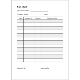 Call Sheet3 LibreOffice