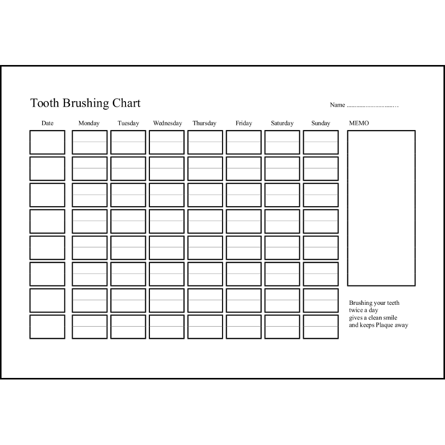 Tooth Brushing Chart4