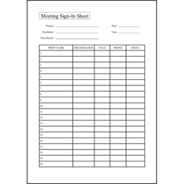 Meeting Sign-In Sheet25