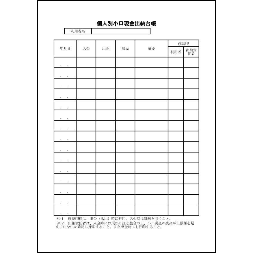 個人別小口現金出納台帳,17,様式(厚生)〜L活   LibreOffice活用サイト